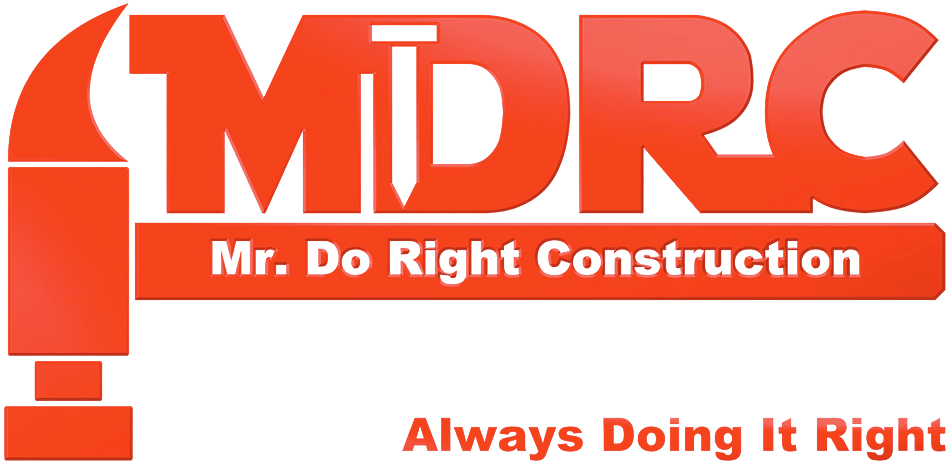 MDRC Mr. Do Right Construction Always Doing it Right logo